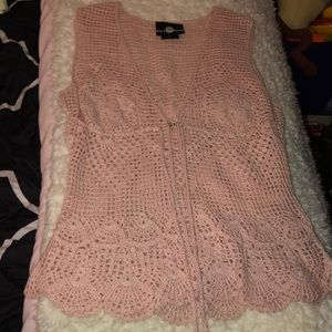 Tops - Pink crochet top